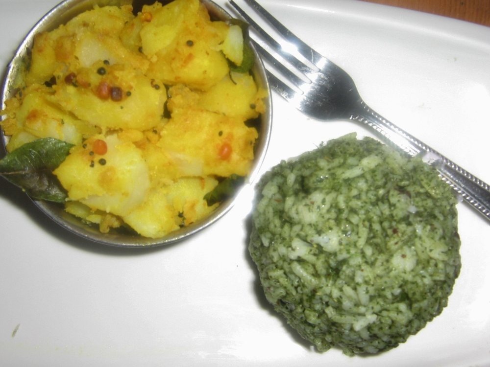 serve with simple potato curry