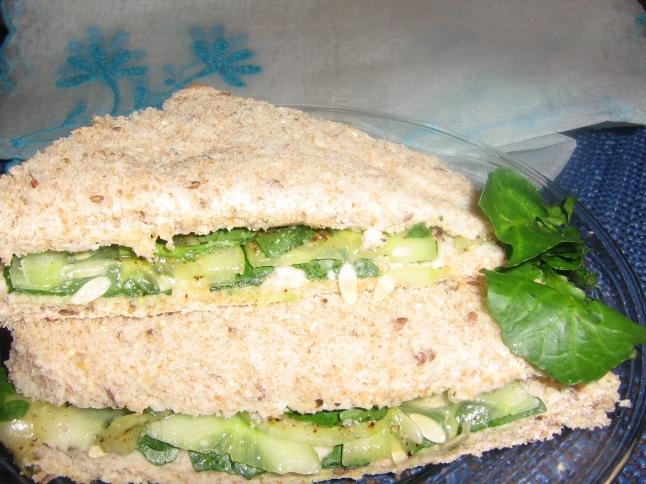 Cucumber Watercress Sandwich