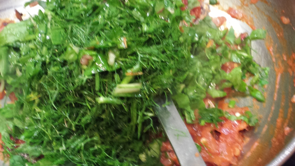 Himalayan fennel swiss chard Creamed lentils (3/5)