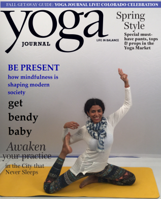 my first yoga journal cover