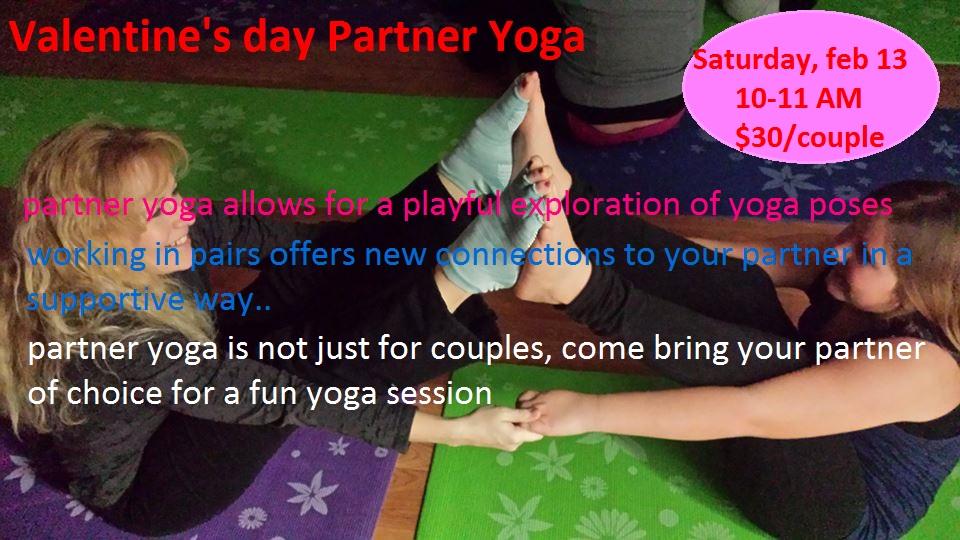 valentine's day partner yoga